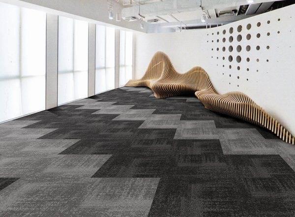 Vintage 4 carpet tiles