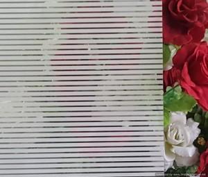 Deco Film White Stripes