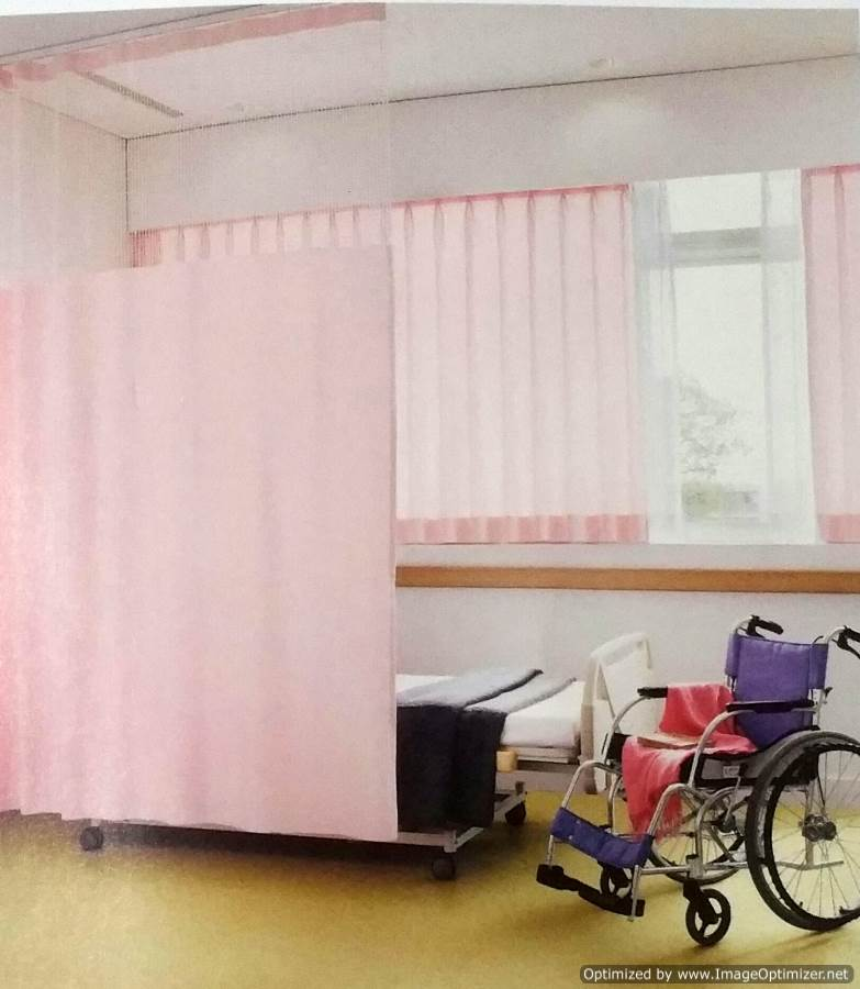 right track textile slide cubicle medical on curtains ourproducts the