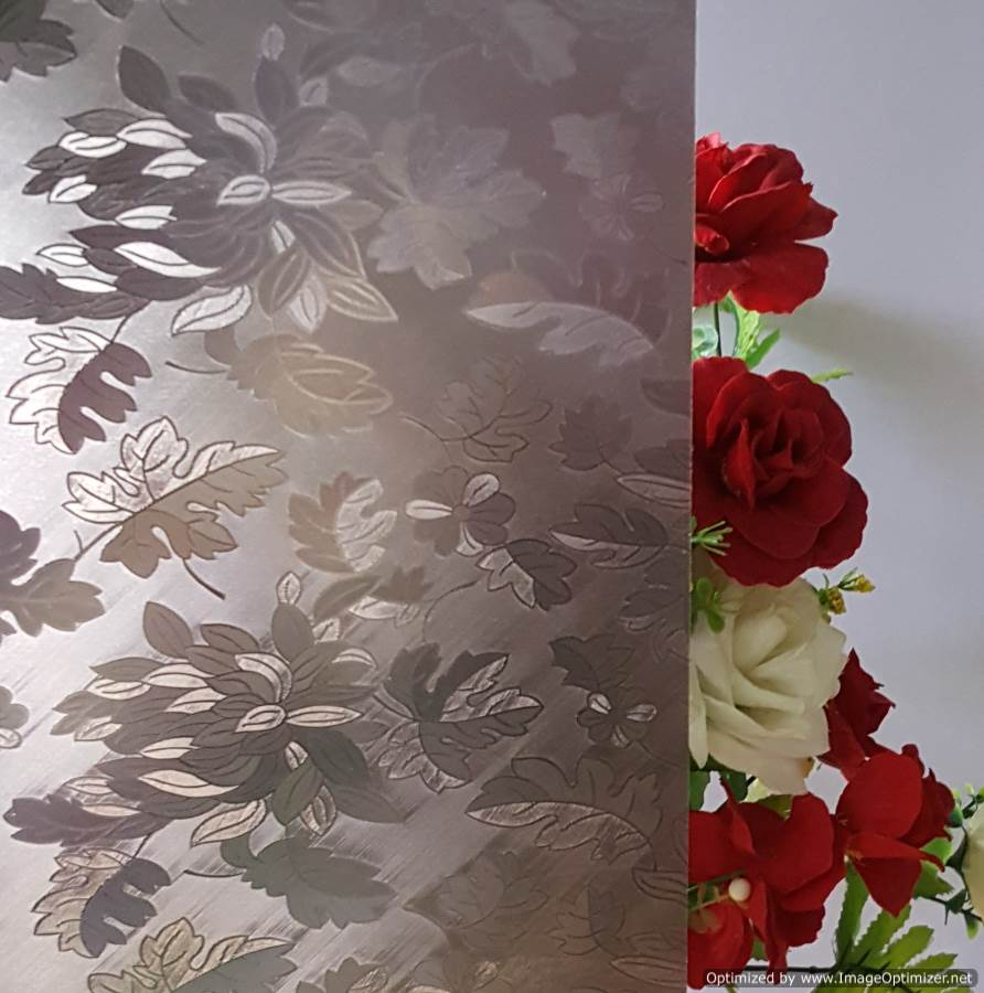 Black Floral frosted film
