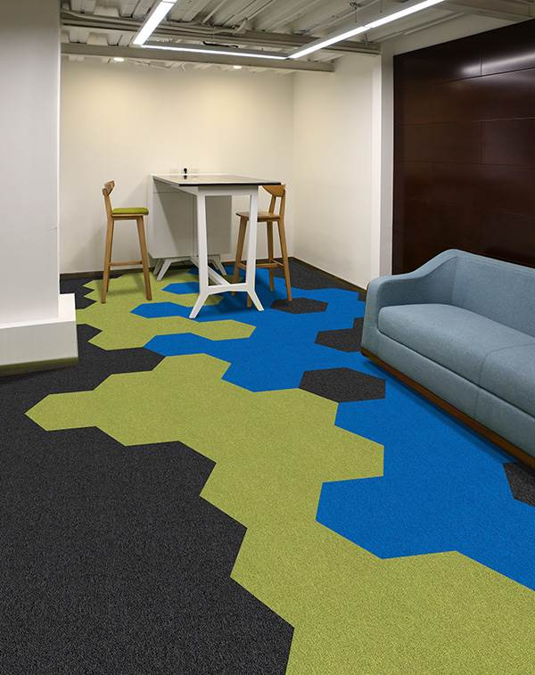 HEX 3 carpet tiles