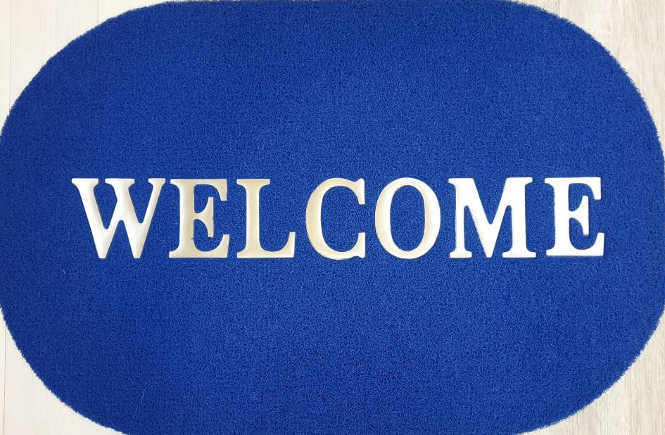 welcome mat - oval