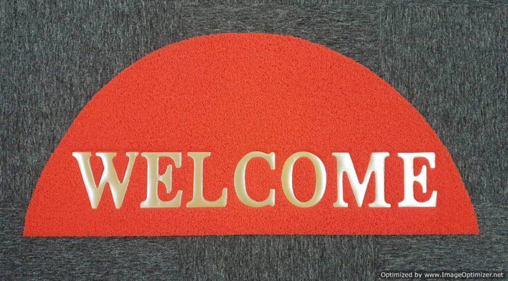 welcome mat - semi circle