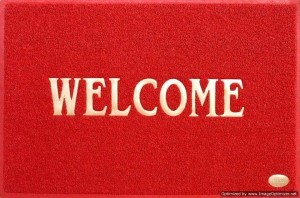 Welcome Mat - Red