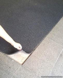 Coil mat recess