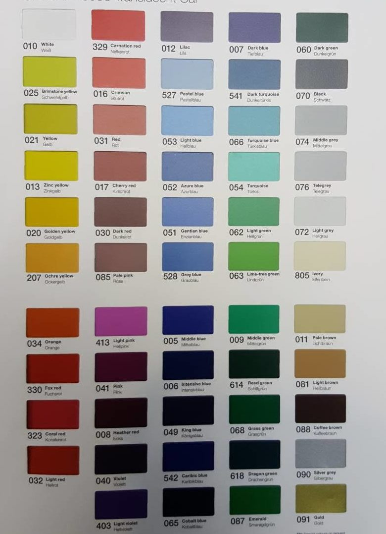 Color Frost Chart