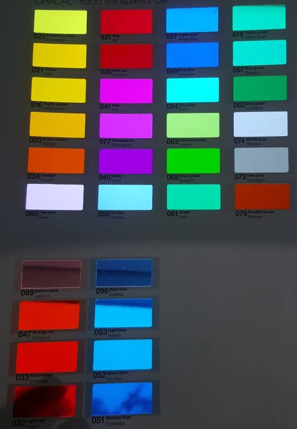Transparent Color Films