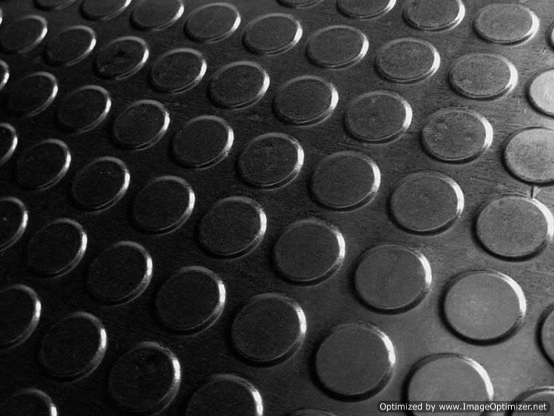 coin studded mat
